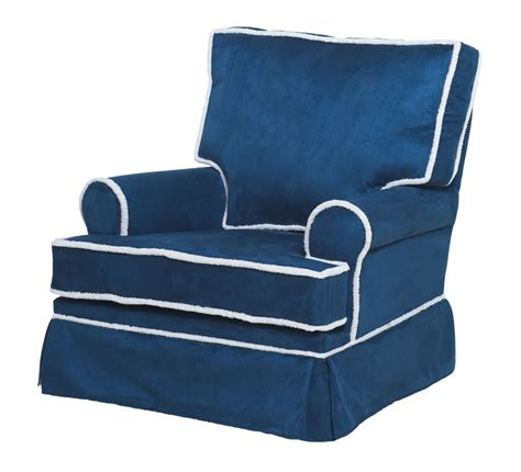 navy blue glider and ottoman komfy kings square back glider navy blue micro with sherpa