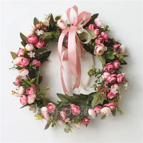 rose artificial flowers mirror flower home wall garland