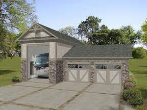 The Garage Plan Shop by Rv Garage Plans Rv Garage Plan With Attached 2 Car