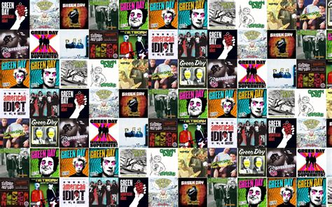 collage pop collage tile tiles green day pop wallpaper