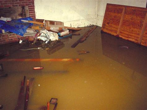 basement flooding clean up on the job with basement
