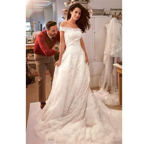 hochzeitskleid amal clooney george clooney amal wedding dress