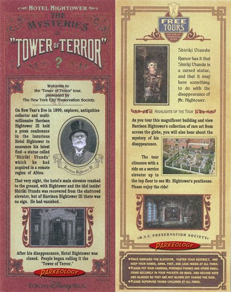 disney imagineering blueprints penelope amazing storytelling tower of terror story card from