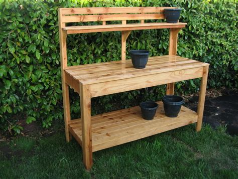 outdoor potting bench plans garden potting bench plans home design ideas