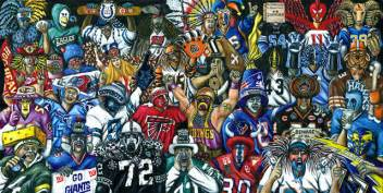 Dining Room Sets Black by Quot True Believers Quot Nfl Football Fan Art Contemporary