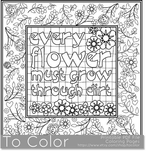 Items Similar To Printable Motivational Coloring Page For Coloring Pages For Motivating