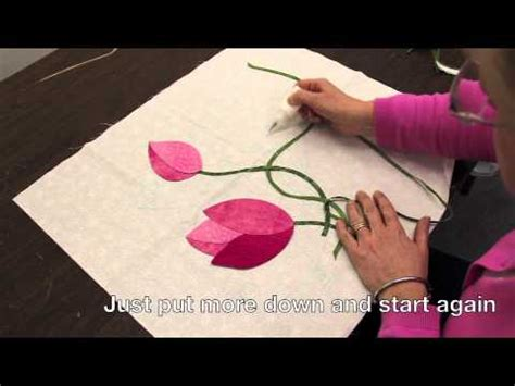 hand quilting tutorial youtube intertwined bias stems and two tone leaves in hand