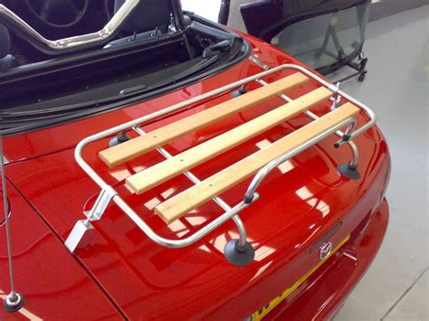 Auto Luggage Rack by Classic Chrome Wood Car Luggage Rack For Mazda Mx5 Mgf Mgb