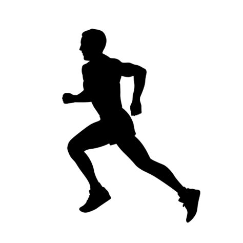 Life Size Athlete Wall Stickers running wall silhouettes decor runner wall silhouette