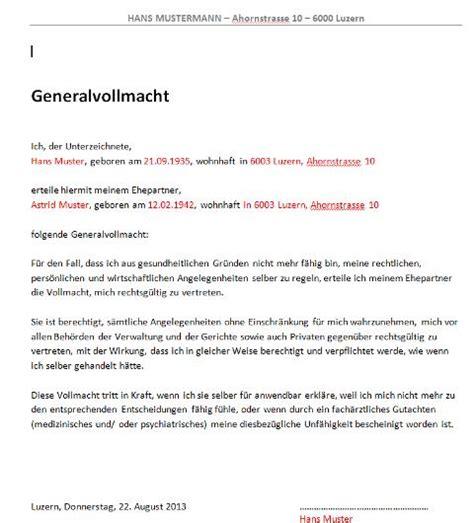 Vollmacht Schreiben Muster Englisch Vollmacht Vorlage Schweiz Muster Und Vorlagen Kostenlos