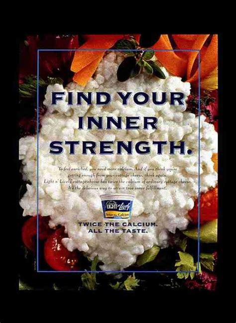 light n lively cottage cheese light n lively cottage cheese quot inner strength quot print ad by y r midwest chicago