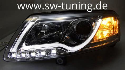 audi a6 c6 led headlights sw drltube xenon headlights for audi a6 4f led drl chrome