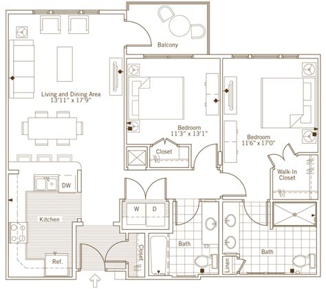 walk in wardrobe floor plan brand new apartment homes coming to eagle s trace in 2016