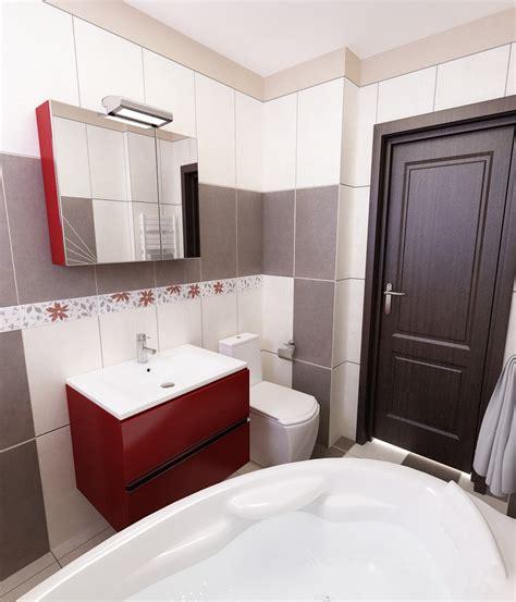 badezimmer fliesen rot grau bilder 3d interieur badezimmer rot grau baie damasco 6