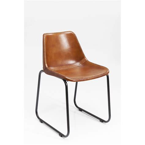 Chaise En Cuir Marron by Chaise Vintage Cuir Marron Kare Design