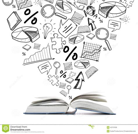 doodle your math book open book on the table stock illustration illustration of