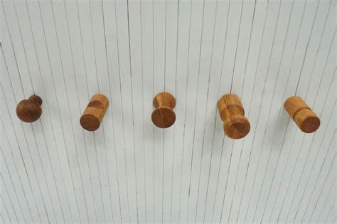 futon hooks pair of solid oak coat hooks futon company
