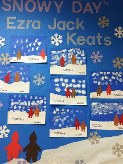 kindergarten activities book snowy day 1st grade in one year the snowy day art