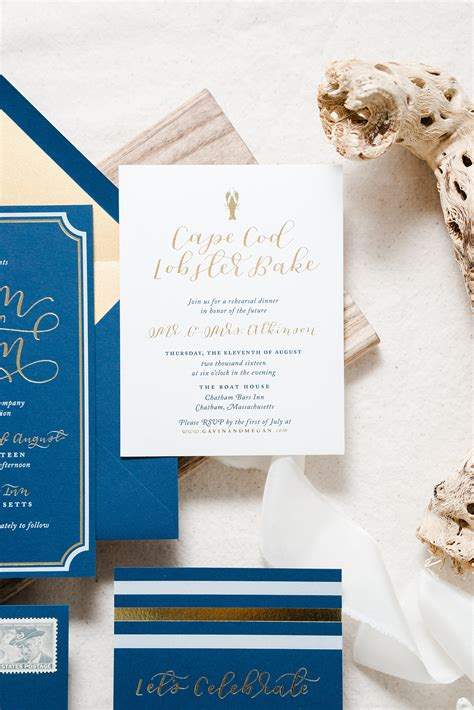 wedding invitations nautical nautical navy and gold foil wedding invitations