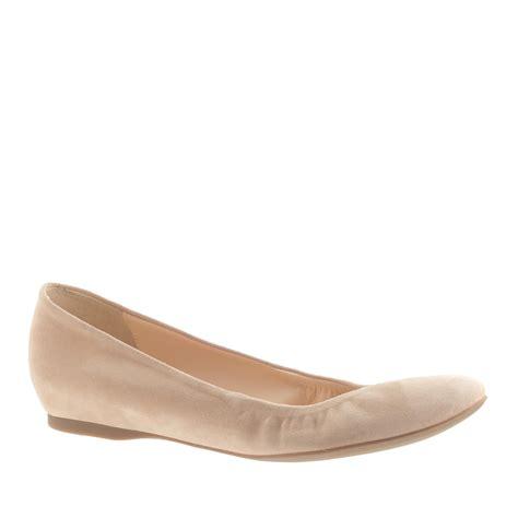 suede flats shoes lyst j crew cece suede ballet flats in