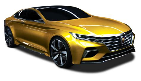 gold color cars roewe vision r concept golden color png image pngpix