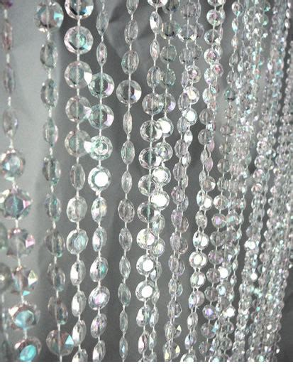 crystal drapes 9ft jewel crystal iridescent diamond cut curtain event