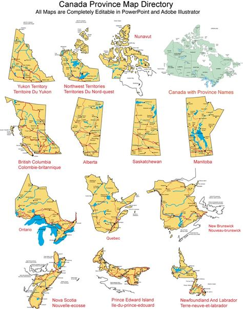 canadian map and provinces map canada provinces