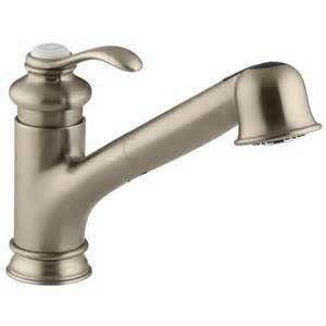 Koehler Kitchen Faucets by Kohler K 12177 Fairfax Single Control Pullout Kitchen Sink