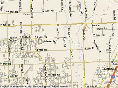 townships in macomb county michigan