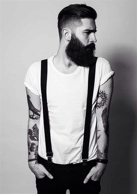 suspender tattoo best 25 bearded tattooed ideas on beard