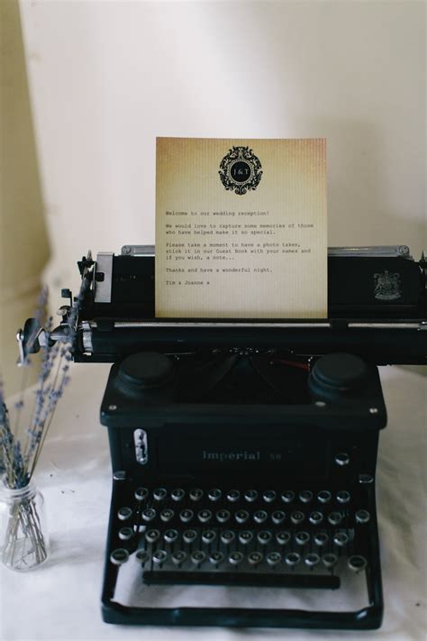 This rustic typewriter was used to communicate a message