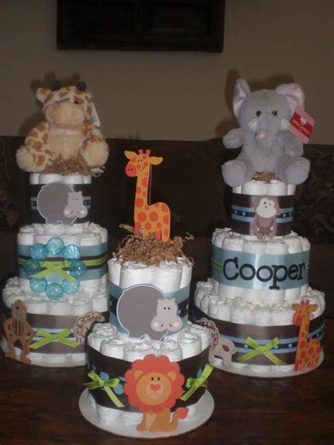 1 jungle theme mini diaper cake baby shower by jungle safari theme diaper cake baby shower centerpiece