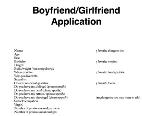 Relationship Application Application