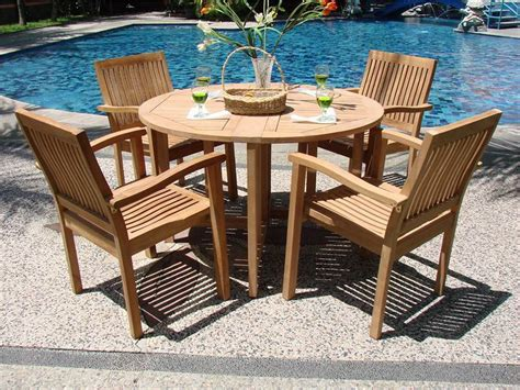 wooden patio table and chairs 20 ideas about garden table and chairs mybktouch