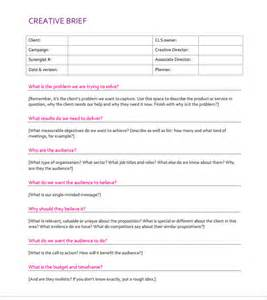 brief template creative brief template cyberuse