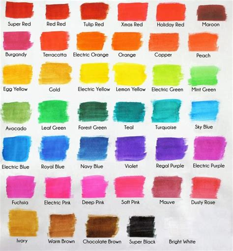 food coloring chart americolor color swatch chart cookie decorating tips