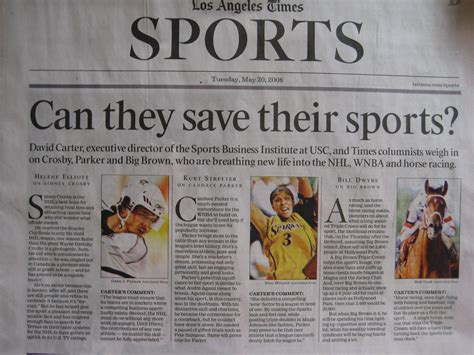 who hijacked the l a times sports section