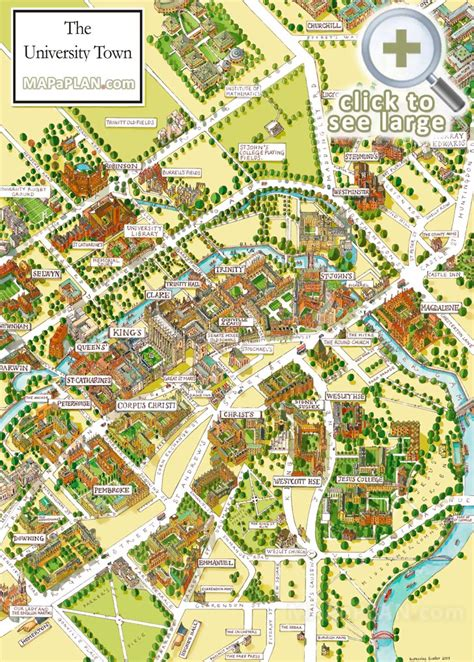 cambridge map cambridge maps top tourist attractions free printable