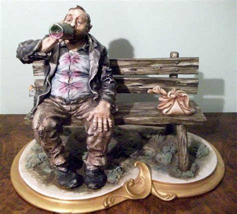 capodimonte old man on bench capodimonte tr on bench drinking from bottle tr