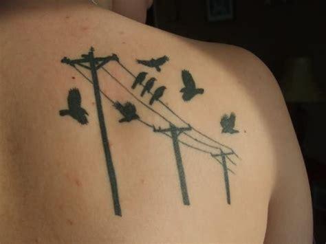 tattoo liner voltage aves sobre postes el 233 ctricos tatuajes para mujeres