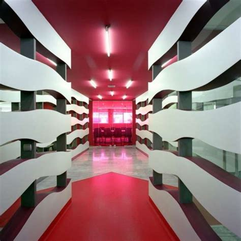 wavy line interiors klab architecture empowers wunderman