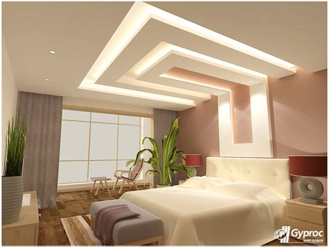 ceiling bed gyproc falseceiling can completely change your bedroom
