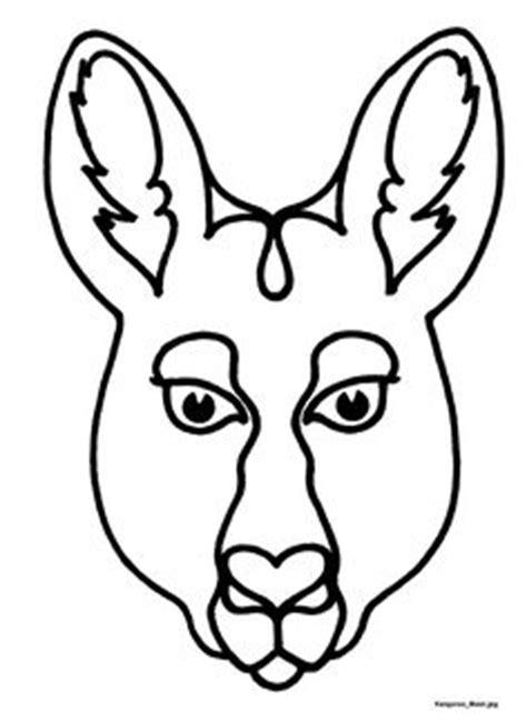 emu mask template printable australian animal outline templates google search