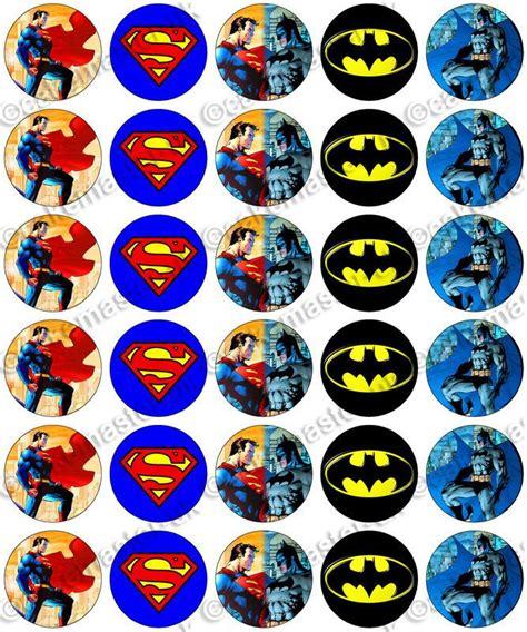 Cupcake Topper Batman Superman 30 x superman vs batman edible rice wafer paper cupcake toppers jim batman vs