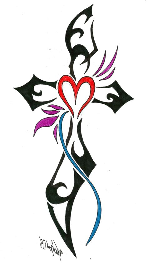 cross with tribal tattoo tribal cross designs for www imgkid the