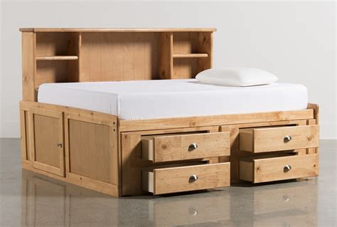 Room Saver by Summit Caramel Roomsaver Bed W 4 Drawer Storage Unit