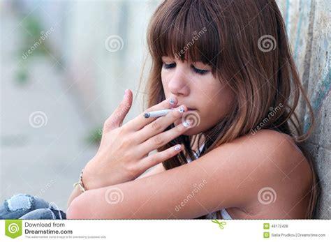 very young little girls smoking teenage girl smoking cigarette stock photo image of