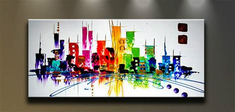 modern abstract painted painting wall decor