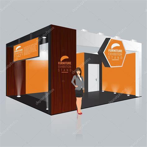 booth design illustrator 창의적인 전시 스탠드 디자인입니다 부스 템플릿입니다 기업의 정체성 벡터 스톡 벡터