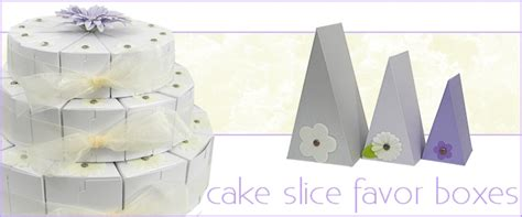 How To Make A Cake Box Out Of Paper - cake slice favor boxes wedge shaped gift boxes bayley